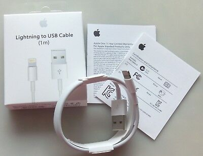 1M Original Apple iPhone 5s 6s 6+ 7+8 X Lightning USB Daten Ladekabel Cable