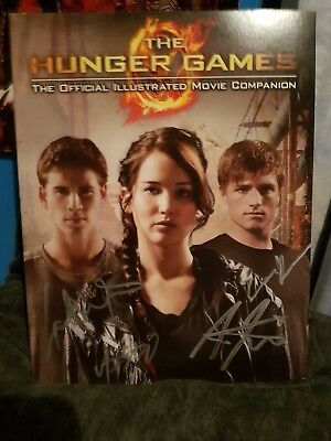 Hunger Games Official Illustrated Movie Companion Signed by 3 Stars! Very Rare!