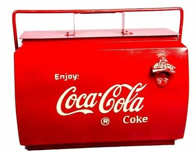 Vintage Stored Antique 1950 Cool Coca-Cola Coke Soda Bottle Cooler Box HB 0105