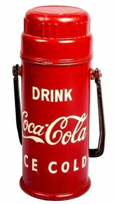 Cylindrical Coca Cola Soda Bottle Antique  Opener In A Metal Cooler Box HB 0111