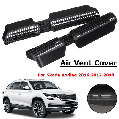 Seat Under AC Heater Air Condition Grille Vent Cover Set For Skoda Kodiaq 16-18