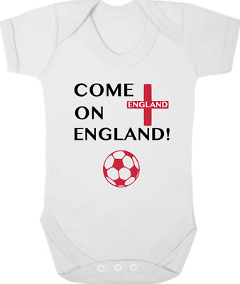 WORLD CUP 2018 New Bodysuit/Grow/Vest, Football, Baby Shower COME ON ENGLAND