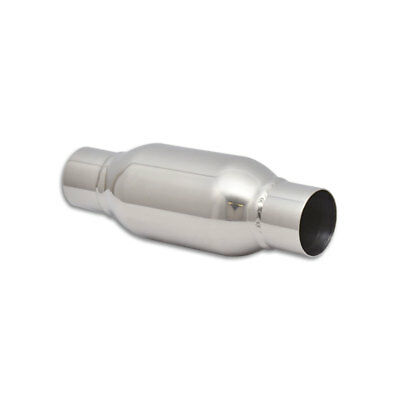 """Vibrant Power Bottle Style Steel 2.5"""" Inlet Outlet x 12"""" Long Exhaust Resonator"""