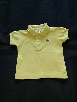 Authentic Lacoste polo shirt baby boy's size 1 Age 12 months FREE P&P