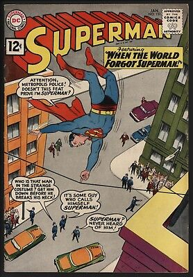 Superman #150 Jan 1962 Classic Silver Age Stories Glossy Cents With Nice E Pages