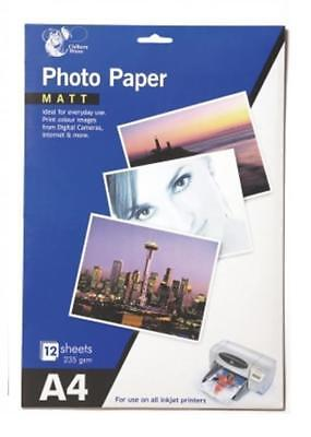 Matt Finish Photo Paper A4 12 Sheets Printer Inkjet Photo Paper