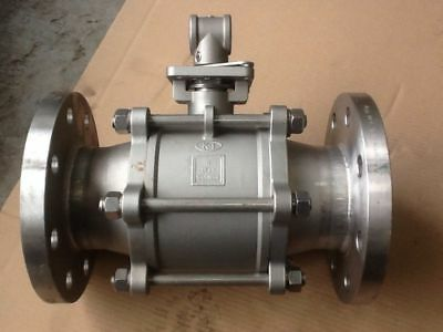 4 Inch Two Way Ball Valve 8 Hole Stainless Steel Flange