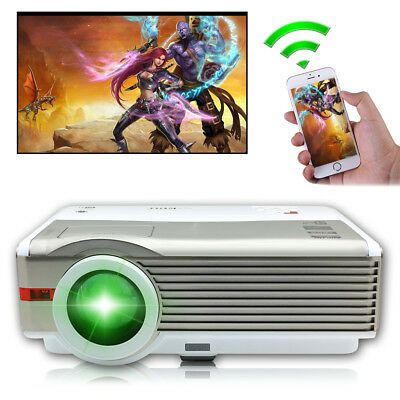 1080P Full HD 8000:1 LED Projektor Android WiFi Heimkino Beamer Spiel HDMI USB