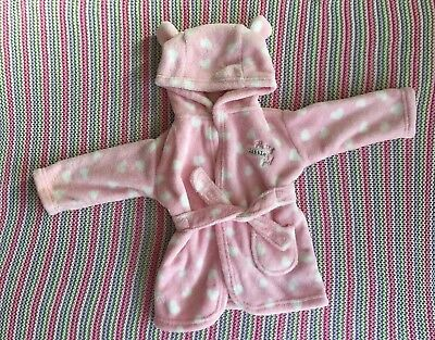 Baby Girls Dressing Gown 3-6 Months