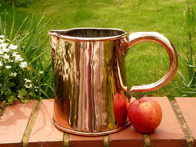 EARLY 19th Century KITCHEN 2 quart DOVETAILED COPPER WATER PITCHER