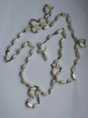 Antico rosario rosary madreperla TERRA SANTA mother of pearl