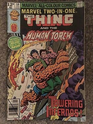 Marvel Two In One Thing And Human Torch #59 Jan 1979 VG
