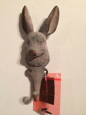 rabbit, bunny coat hook, metal