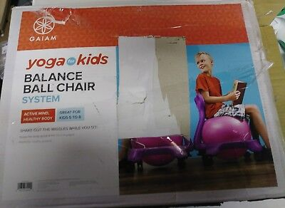 Outstanding Gaiam Purple Yoga Chair Balance Exercise Posture Ball Chair Caraccident5 Cool Chair Designs And Ideas Caraccident5Info