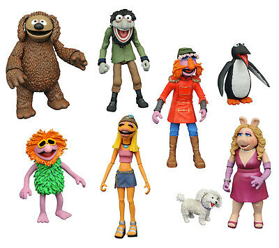 DISNEY SELECT 3er Set Miss Piggy , Janice , Floyd , Rowlf DIAMOND SELECT Neu (L)