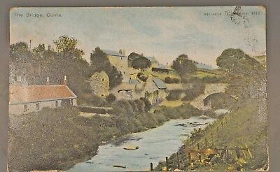 1905 Coloured Postcard The Bridge Currie
