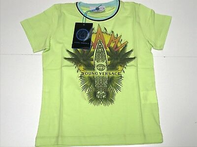 ea61d17d YOUNG VERSACE KIDS Boys New GREEN MIAMI SURF LOGO T-SHIRT Sz: 4 RTL ...
