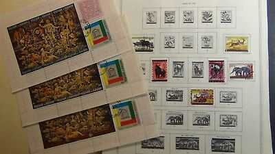 Burundi Stamp collection on Minkus pages to '90 or so
