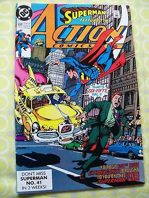 Action Comics Featuring Superman 650 DC 1990 Stern Ordway Swan Perez Breeding