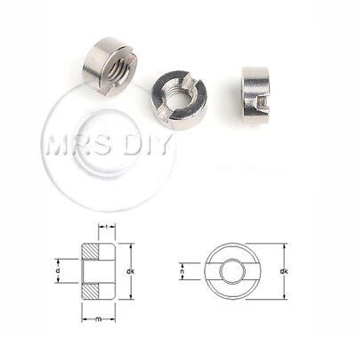 SLOTTED ROUND NUTS A2 & A4 Stainless Steel Din546 Sizes M2 up to M16
