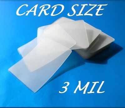 Card Size Laminating Pouches Laminator Sheets 100, 2-1/4 x 3-3/4, 3 Mil Quality