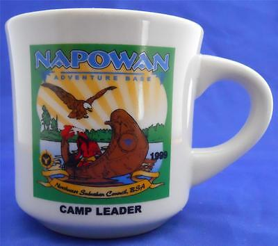 1999 Napowan Adventure Base Camp Leader B.S.A Boy Scouts Coffee Mug Souvenir