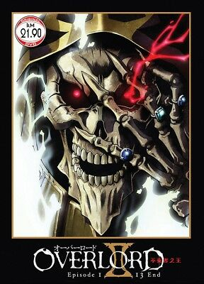 DVD Anime OVERLORD Season 2 Complete Series (1-13 End) English Subtitle Region 0