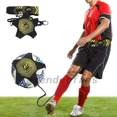 Football Kick And Throw Trainer Kit For Solo Training Aid With Adjustable Waist