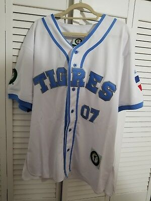 Tigres Del Licey Dominican #07 Baseball Jersey Vintage Latin League Size M New
