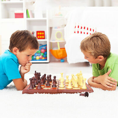 iBaseToy Folding 2 in 1 Magnetic Chess Set Kids Birthday Gift Toys AU Stock