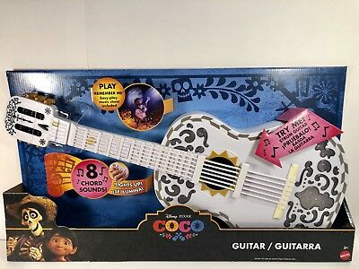 DISNEY PIXAR COCO Guitar, White. Lights up, 8 Chord Sounds, Remember ...