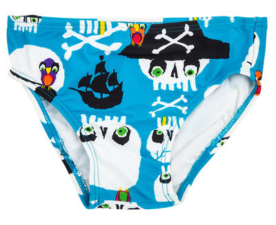 WaveRat Baby/Toddler Jolly Rodger Print Brief - Electric/Multi