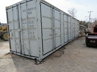 40 HIGH CUBE shipping container One trip 4 side doors sea container