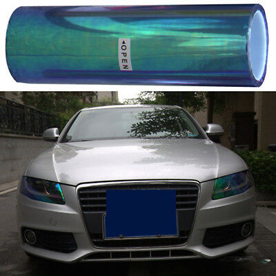 "1PCS 12""x60"" Blue Color Smoke Headlight Taillight Fog Light Lamp Vinyl Tint Film"