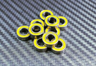 [25Pcs] MR148-2RS (8x14x4 mm) Rubber Sealed Ball Bearings Bearing MR148RS YELLOW