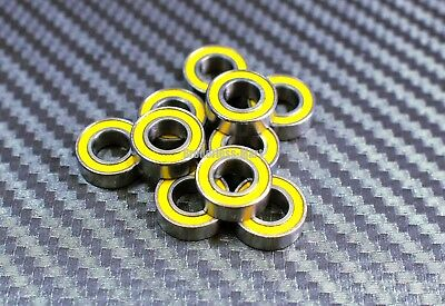 [10Pcs] MR148-2RS (8x14x4 mm) Rubber Sealed Ball Bearings Bearing MR148RS YELLOW