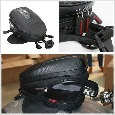 Waterproof Motorcycle 9-12L Extended Tank Bag Riding Bag Luggage Durable Oxford