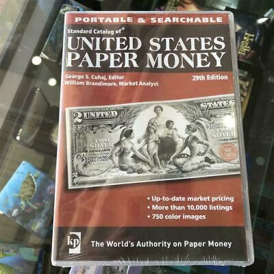 New KRAUSE 29th Edition Standard Catalogue of US Paper Money CD/DVD