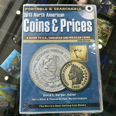 New KRAUSE 2013 North America Coin and Prices 22nd Edition CD/DVD