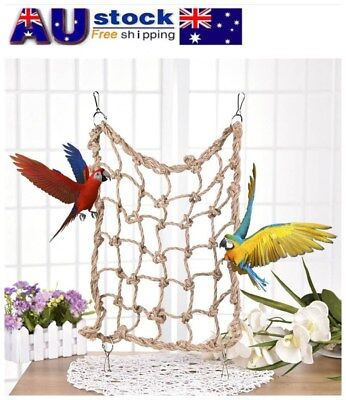 Bird Swing Climbing Ladder Chew Rope Hammock Hanging Cage Toys for Macaw African
