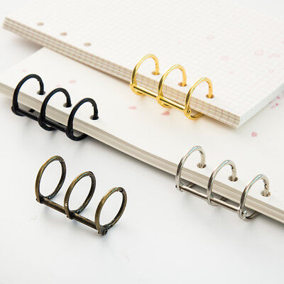 2pcs Metal Loose Leaf Book Binder Hinged Rings Album Clips Desk Calendar Circle