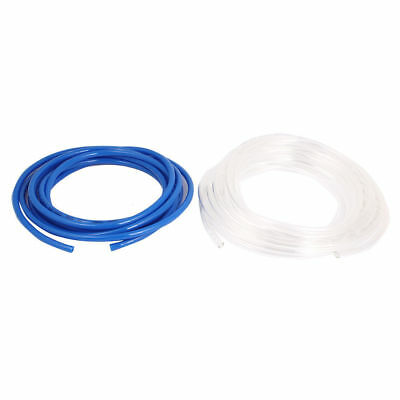 H● 2Pcs Flexible Air Tubing Gas Line PU Pneumatic Tube Pipe Hose Blue Clear