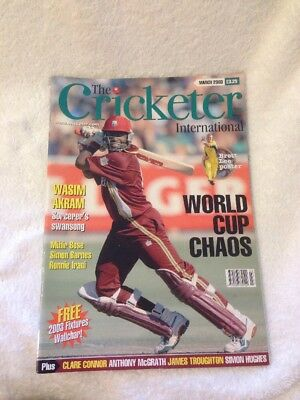 The Cricketer International Magazine March 2003 World Cup Chaos