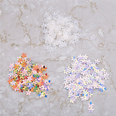 1Pack 50g 10mm Flower Loose Sequins Paillettes Hole Sewing Wedding DIY Making