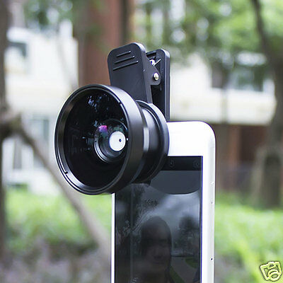 2-in-1 Camera 0.45x Wide Angle Lens Clip Macro Lens for iPhone 6 7 8 Samsung