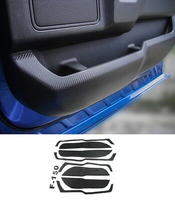 Door Anti Kick Carbon Fiber Stickers Cover Trim For Ford F150 F-150 2015 - 2018