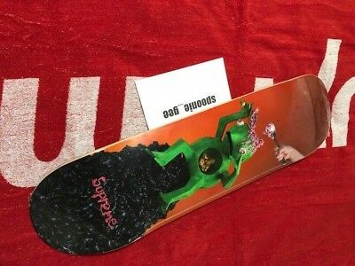SUPREME MIKE HILL Brains Skateboard Deck Bogo Box Kermit Hirst Kaws Condo  Longo