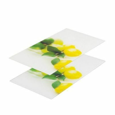 2 Glass Chopping Cutting Board Induction Ceramic Hob Cover Worktop Trays Protect