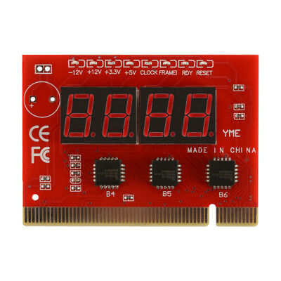 New PCI Motherboard LED 4 Digit Analysis Diagnostic Test POST Card Red AC1147