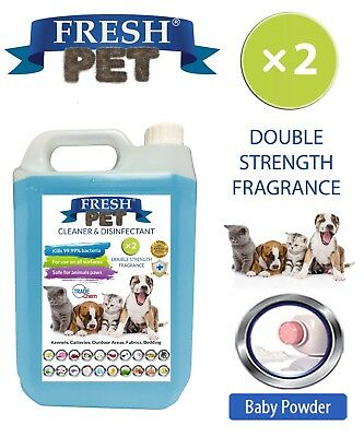 Fresh Pet Kennel Dog Disinfectant Double Strength Fragrance - 5L Baby Powder